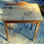 Sanded antique school desk.