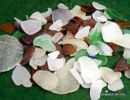 Some of my beach glass collection.