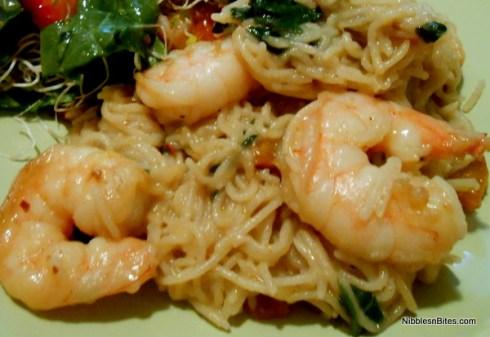 """Linguine"" with Chile Shrimp"