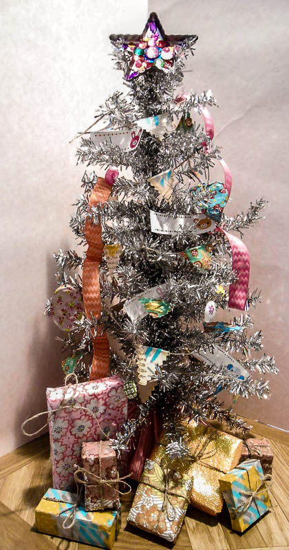 My mini-tree is the most decorated part of our home, so far.