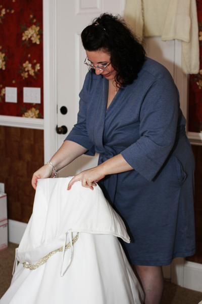 I nested the crinoline inside the dress before stepping-in, at that point the dress nearly stood up on it's own! | all images via Pink Shutterbug Photography