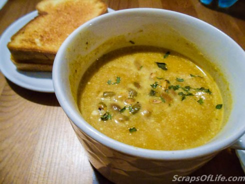 The Pumpkin Sage Soup (p35, see recipe below) paired perfectly with a grilled cheese sandwich.