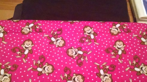 "The fabulous ""Laughing Monkey Pink"" print"