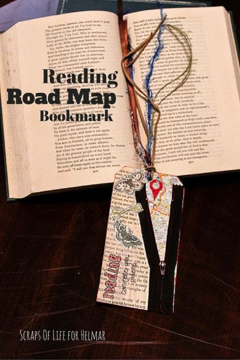 Reading Road Map Bookmark for Helmar Adhesives