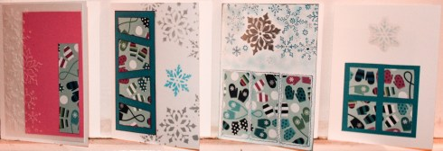 A few cards from Christmas 2015 (from the Winter Whimsy card kit)
