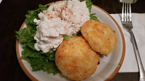 Frozen Lobster Salad with Garlic Cheese Biscuits