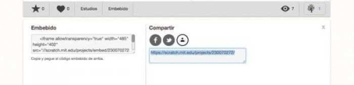 URL Proyecto compartido en Scratch
