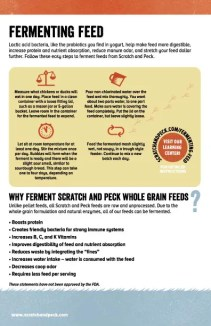Fermenting Scratch and Peck feeds