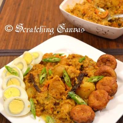 Murgh Khichdi or chicken Khichdi/Khichuri :Monsoon Mania