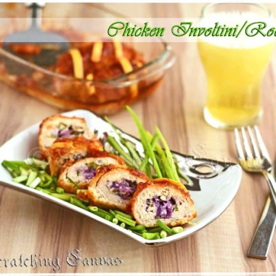 Glazed Chicken Involtini aka Chicken Rollatini Makeover