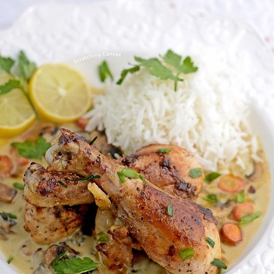 Fricassee De Roulet a L'Aancienne | Old Fashioned Chicken Fricassee | Julia Child