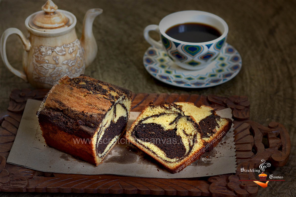 Coffee Marble Loaf on gastop | Chocolate Swirl Bread on stove top