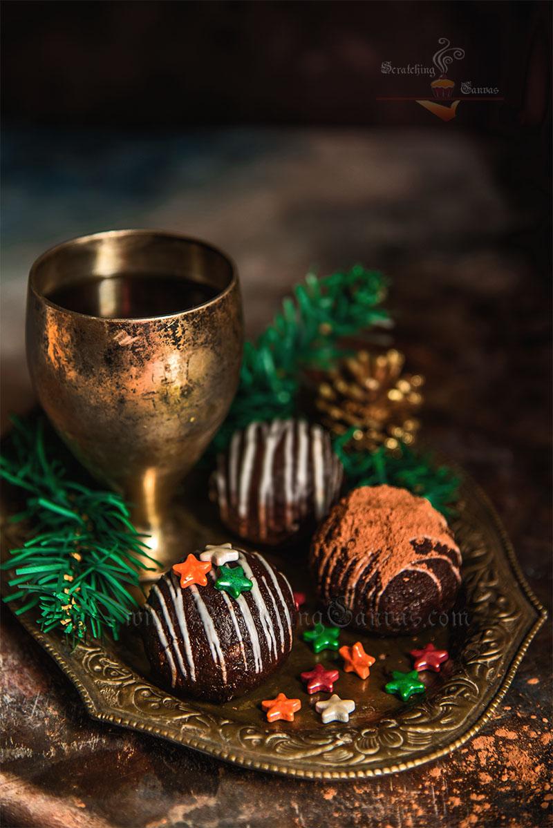 Christmas Rum Ball Photography