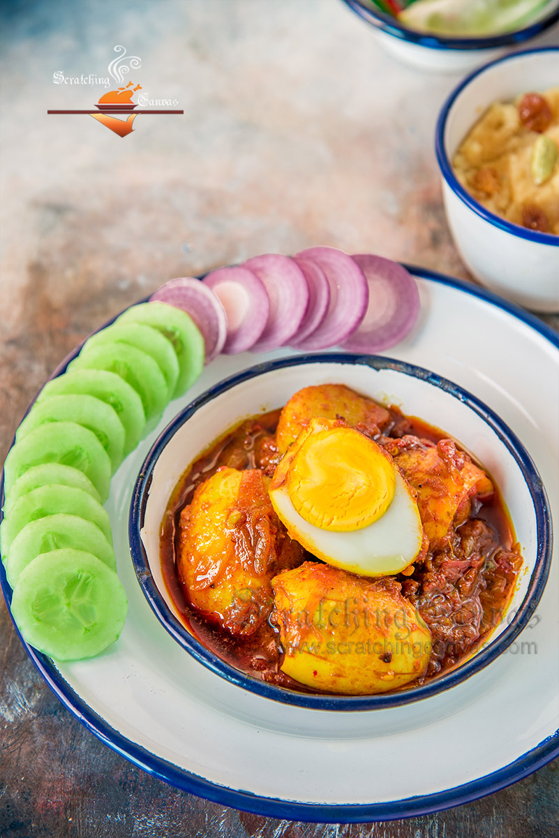 Indian Duck Egg Curry Food Photography Styling