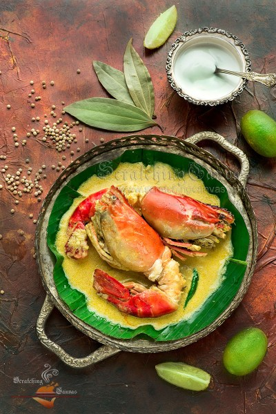 Gondhoraj Chingri | Golda Chingri with Gondho Lebu | Bengali Prawn Recipe