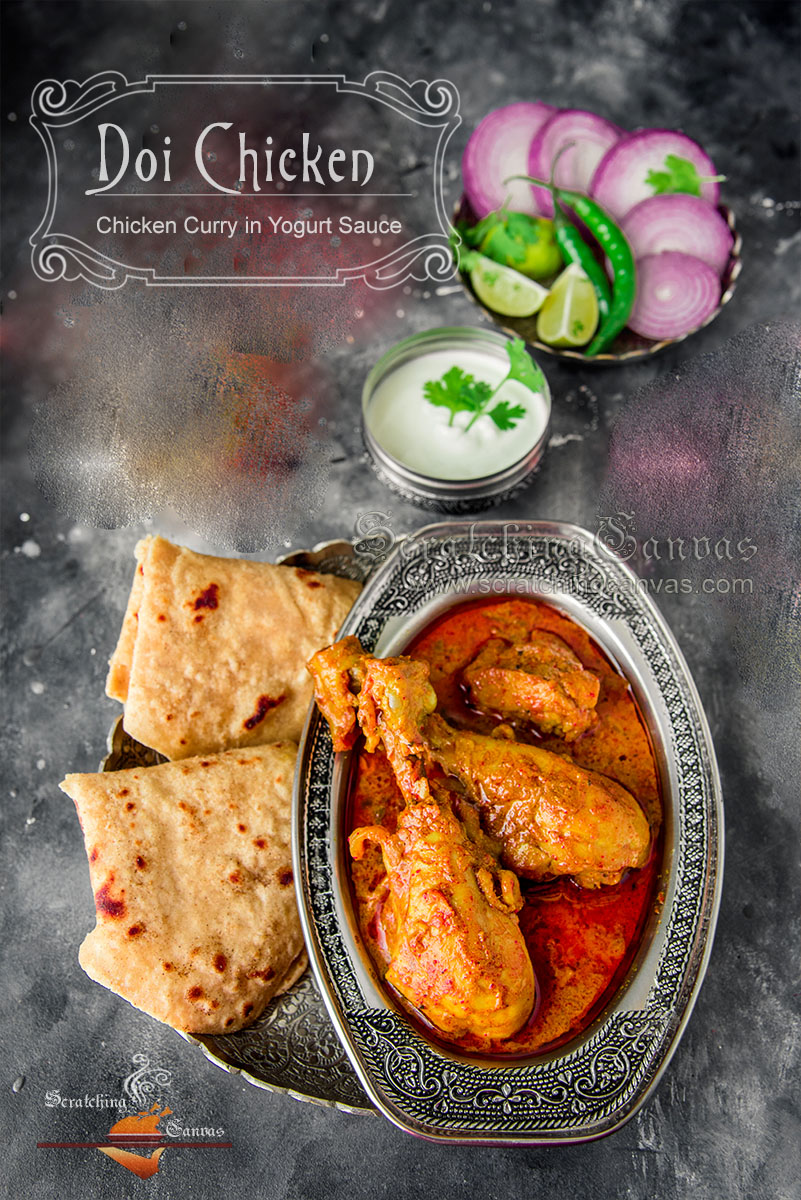 Dahi Chicken Food Photography Styling