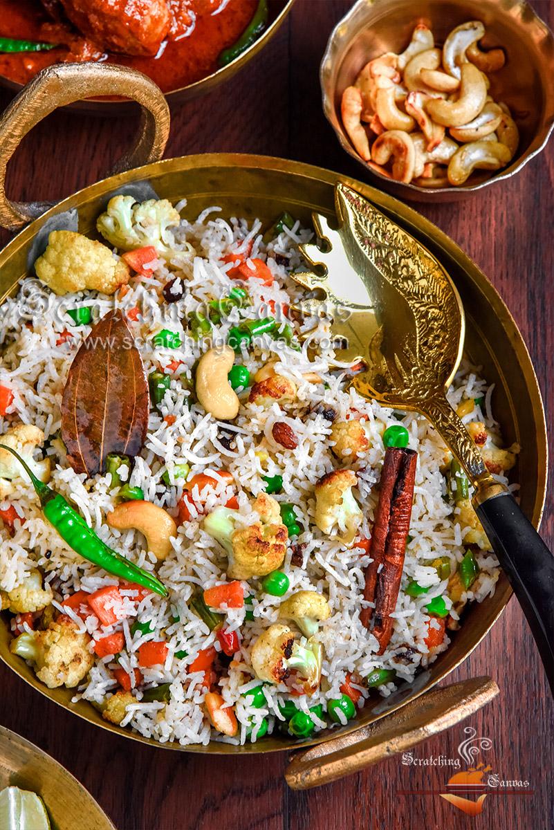 Bengali Vegetable Fried Rice Recipe