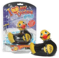 I rub my duckie Bondage with his packaging