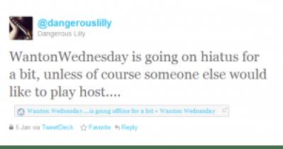 wanton wednesday going on hiatus tweet