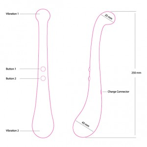 Size specifications for the Swan Trumpeter Vibrator