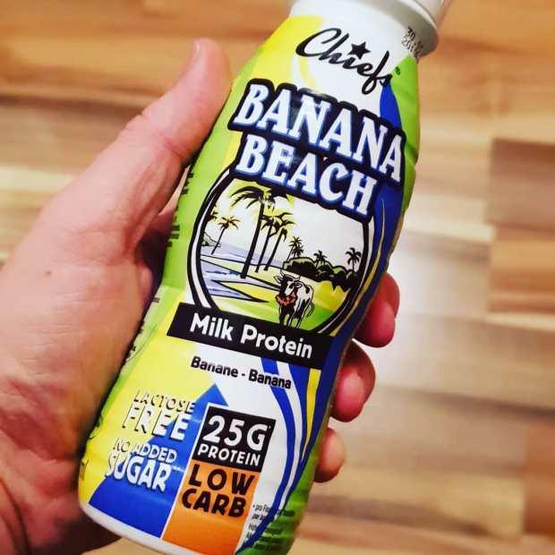 Heute mal flüssiges Frühstück #banaabeach #proteinshake @chiefslife #lowcarb #breakfast