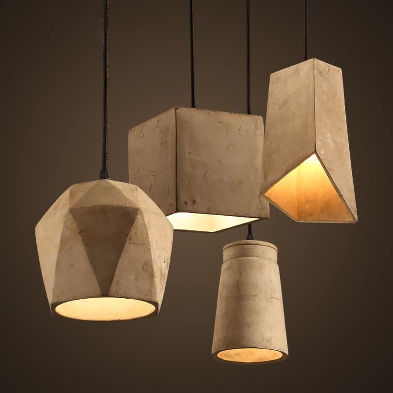 Cement Pendant Light