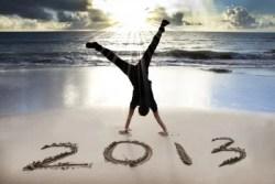 Enjoying the beach in 2013
