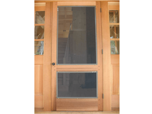 Wood Frame Swinging Door Screenman Mobile Screening Service