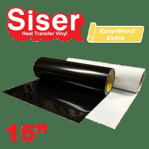 "Siser EasyWeed Extra 15"" Heat Transfer Vinyl Standard Colors"