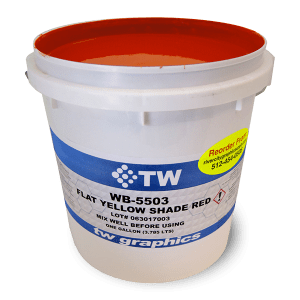 TW 5500 Series Flat Waterbase Standard Colors Poster Inks