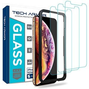 Tech Armour Pellicola salvaschermo in vetro balistico per iPhone XS MAX