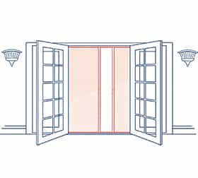 Phantom Screens Professional Double Door