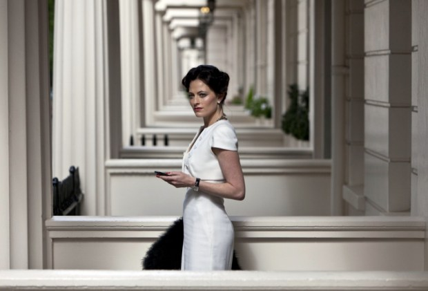 Lara Pulver as Irene Adler. Photo credit: BBC