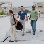 BURN NOTICE -- Episode 610 -- Pictured: (l-r) Bruce Campbell as Sam Axe, Jeffrey Donovan as Michael Westen, Chad Coleman as Brady Pressman -- (Photo by Glenn Watson/USA Network)