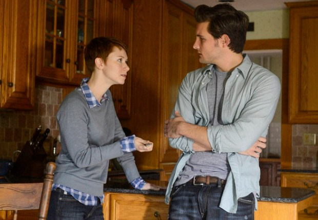 "Emma (Valorie Curry, L) hands Jacob (Nico Tortorella, R) a knife in the ""Mad Love"" episode of THE FOLLOWING airing Monday, Feb. 11 (9:00-10:00 PM ET/PT) on FOX. ©2013 Fox Broadcasting Co. CR: David Giesbrecht/FOX"