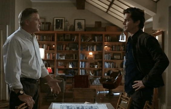 James (Treat Williams) and Neal (Matt Bomer) have a heart-to-heart father/son talk (Image © USA Network)