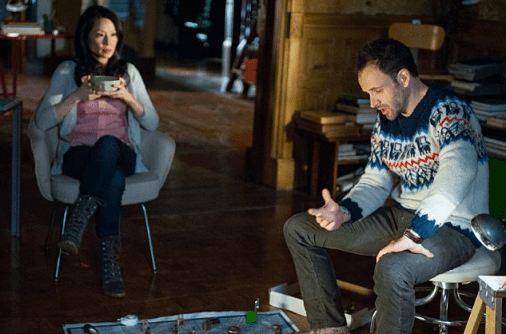 Lucy Liu and Jonny Lee Miller. Image © CBS