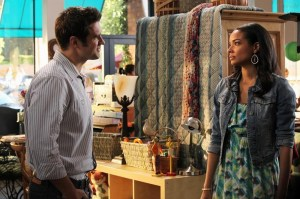 Pictured: Cameron Bender as Richard, Rochelle Aytes as April --  © 2013 ABC