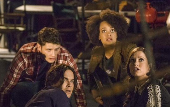 Pictured: Tyler Blackburn, Brett Dier, Britne Oldford, Merritt Patterson -- Photo by: © 2013 ABC Family