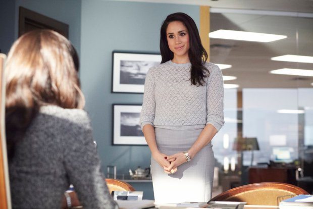 Pictured: Meaghan Markle as Rachel Zane (Photo by: Ian Watson/USA Network)
