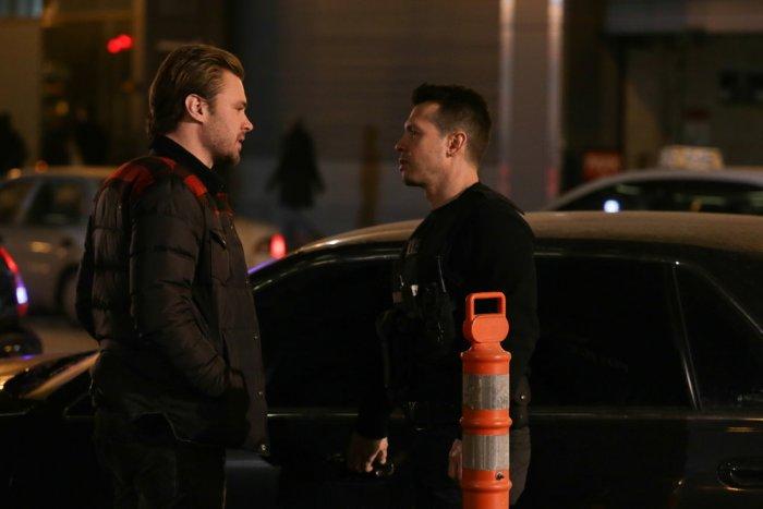 Pictured: (l-r) Patrick Flueger as Adam Ruzek, Jon Seda as Antonio Dawson -- (Photo by: Elizabeth Morris/NBC)