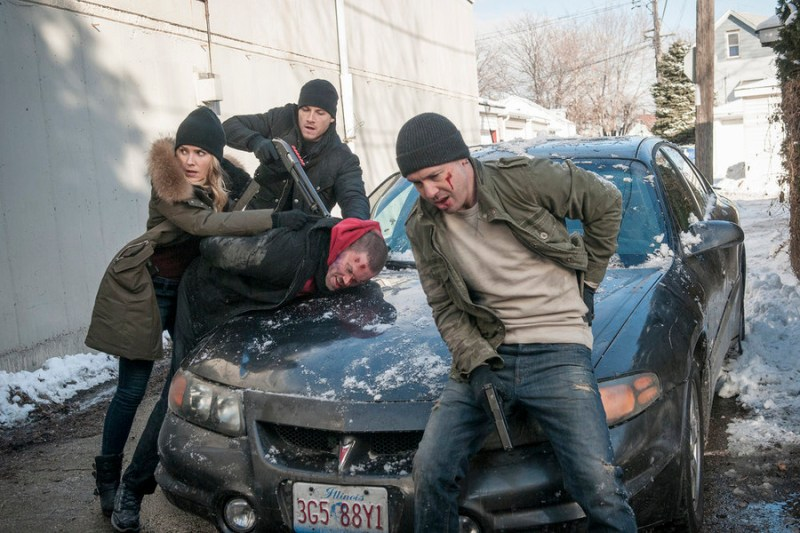 Pictured: (l-r) Sophia Bush as Erin Lindsay, Jesse Lee Soffer as Jay Halstead, Jon Seda as Antonio Dawson -- (Photo by: Matt Dinerstein/NBC)