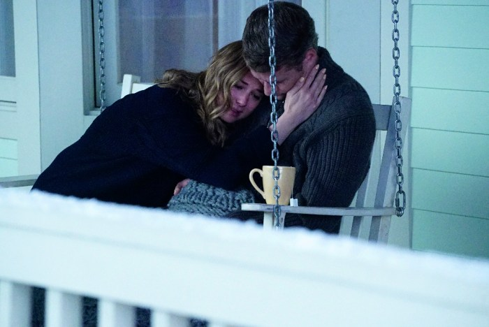 """REVENGE - """"Two Graves"""" - Backed into a corner, Emily is forced to admit her guilt, but she'll have to decide how far she'll go before admitting defeat, on the series finale of """"Revenge,"""" SUNDAY, MAY 10 (10:01-11:00 p.m., ET), on the ABC Television Network. (ABC/Richard Cartwright) EMILY VANCAMP, JAMES TUPPER"""