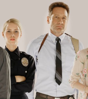 Pictured: (l-r) Claire Holt as Charmain, David Duchovny as Hodiak, (Photo by: Jim Fiscus/NBC)