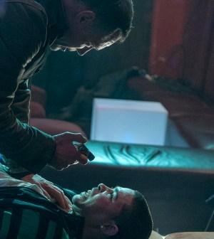 Pictured: (l-r) Jason Beghe as Hank Voight, Joshua Torrez as Drugstore -- (Photo by: Matt Dinerstein/NBC)