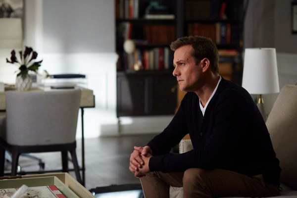 """SUITS -- """"Mea Culpa"""" Episode 508 -- Pictured: Gabriel Macht as Harvey Specter -- (Photo by: Shane Mahood/USA Network)"""