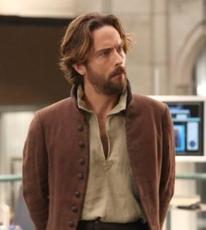 Tom Mison as Ichabod Crane. Co. Cr:  Patrick McElhenney/FOX