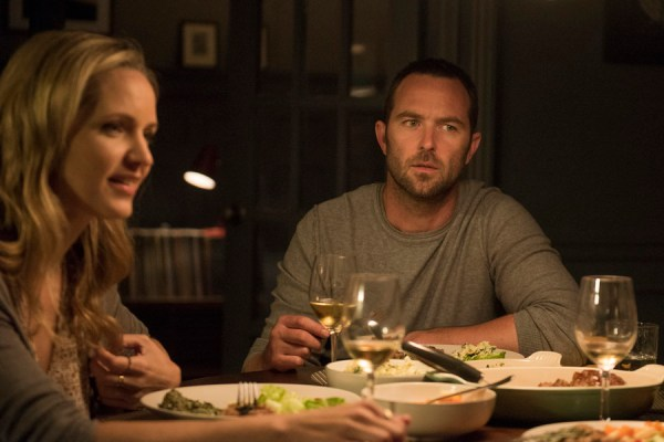 "Blindspot -- ""Split The Law"" Episode 105 -- Pictured: (l-r) Jordana Spiro as Sarah Weller, Sullivan Stapleton as Kurt Weller -- (Photo by: Barbara Nitke/NBC)"