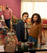 "RECOVERY ROAD - ABC Family's ""Recovery Road"" stars David Witts as Craig, Kyla Pratt as Trish, Daniel Franzese as Vern, Alexis Carra as Cynthia, Sebastian De Souza as Wes, Jessica Sula as Maddie and Sharon Leal as Charlotte. (ABC Family/Bob D'Amico)"