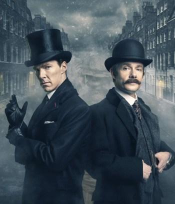 Dr John Watson (MARTIN FREEMAN), Sherlock Holmes (BENEDICT CUMBERBATCH) - (C) Hartswood Films - Photographer: Robert Viglasky